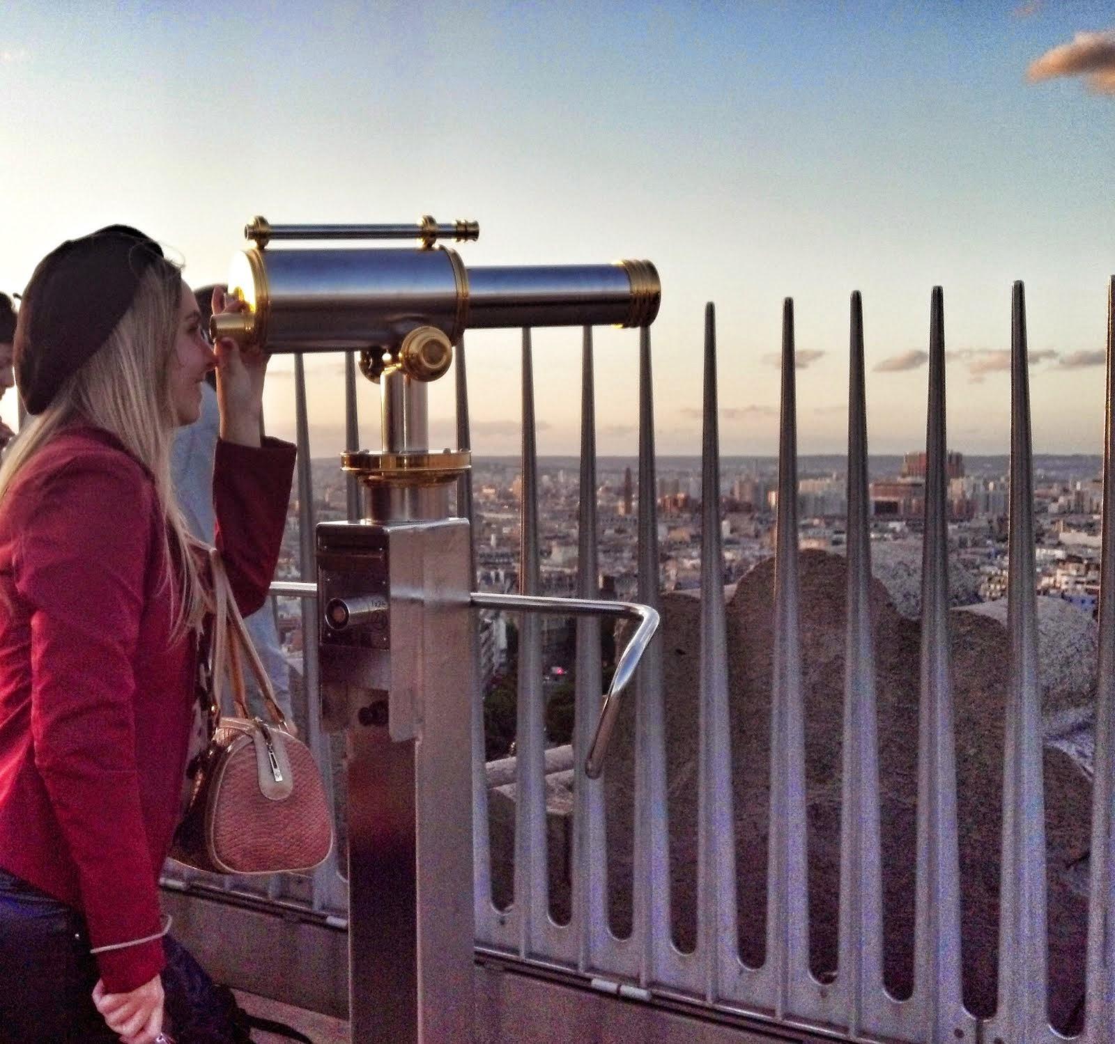 arco do triunfo paris vista da cidade