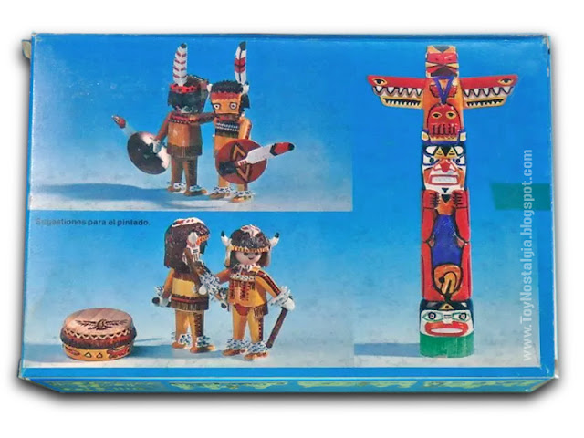 Playmobil COLOR 3620 - Antex - indians with totem back box