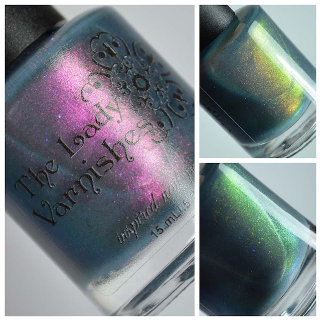 blue nail polish with color shifting shimmer