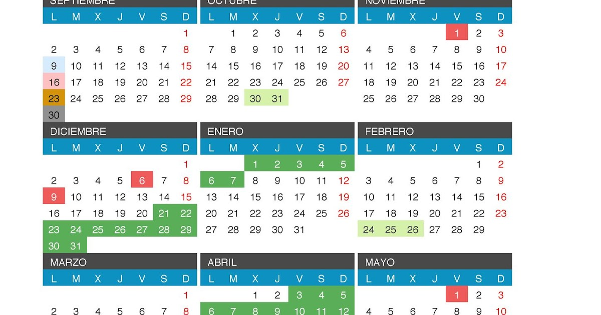 Calendario 2019 Castilla Y Leon.Calendario Escolar 2019 2020 Castilla Y Leon