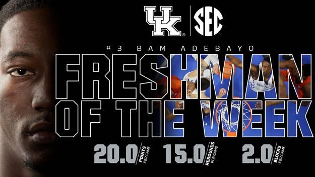 Kentucky Basketball Fox Named Sec Freshman Of The Week: Big Blue Corner