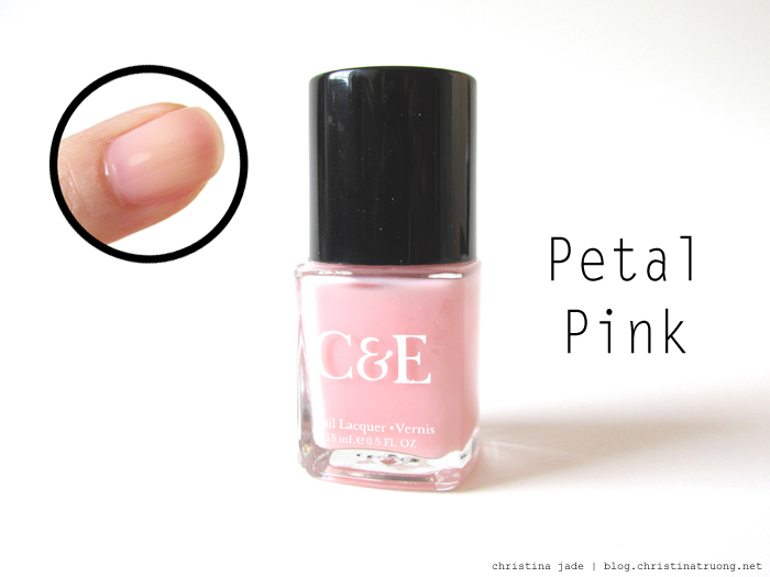 Crabtree & Evelyn Nail Polish Collection Swatches Petal Pink
