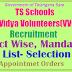 Telangana VV's/Vidya Volunteers Results-Merit List-Provisional Selection List 2017- Allotment, Appointment Orders Final Merit List@cdse.telangana.gov.in