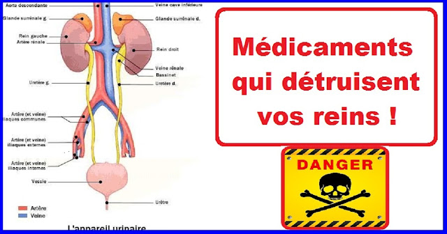 Les médicaments qui détruisent vos reins !