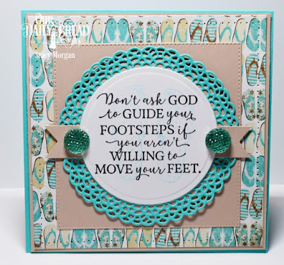 Our Daily Bread Designs Stamp Sets: God Quotes 2, Walk With Jesus  Custom Dies: Fancy Circles, Pierced Squares, Pocket Watch, Paper Collection: By the Shore
