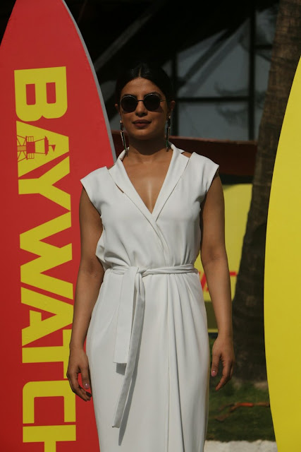 priyanka chopra in baywatch promotions photos
