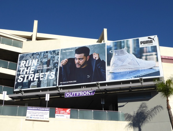 Weeknd Puma Run the streets billboard