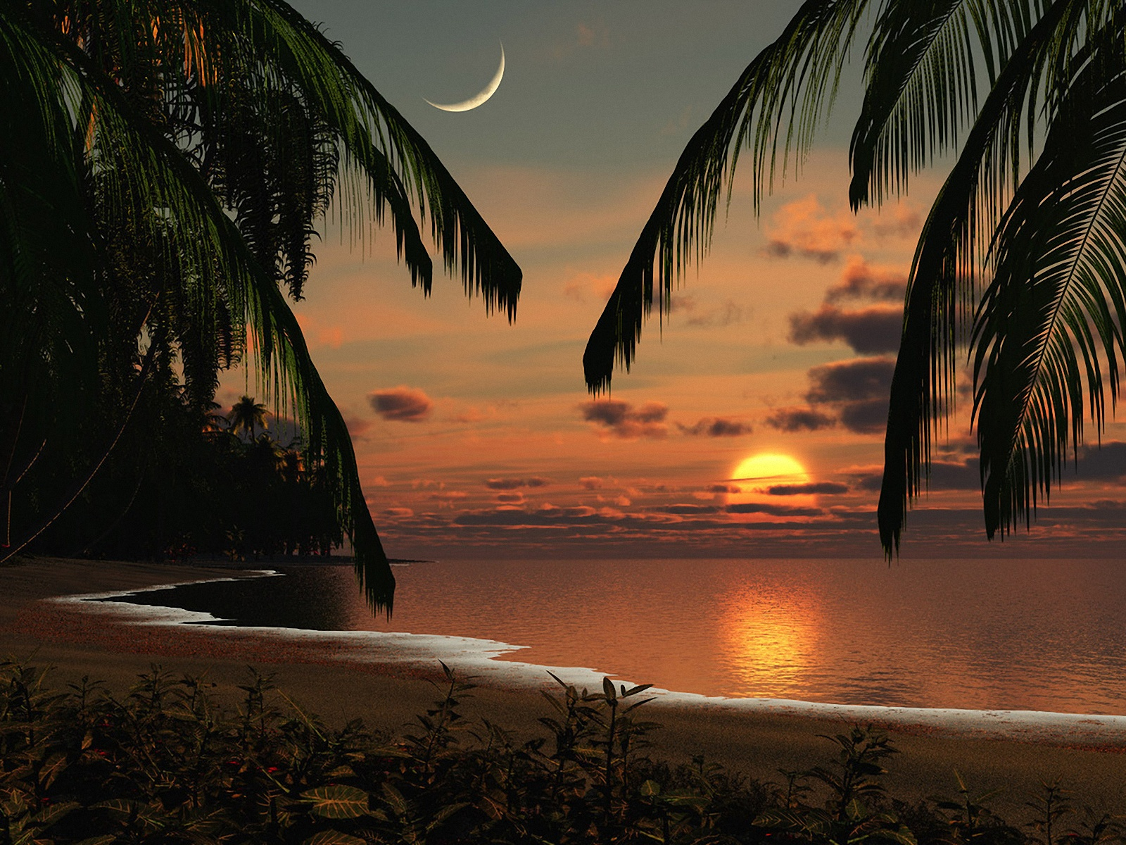 Hd Tropical Island Beach Paradise Wallpapers And Backgrounds: Wallpapernarium: Wallpapers De Atardeceres