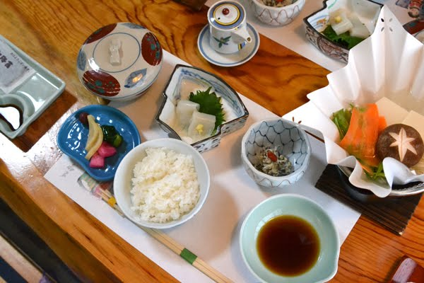 Japanese meal on table
