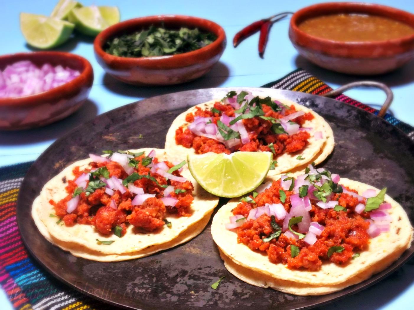 Authentic Mexican Chorizo Tacos - lacocinadeleslie.com