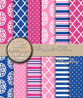 Stripes Polka Dots Quatrefoil Medallion