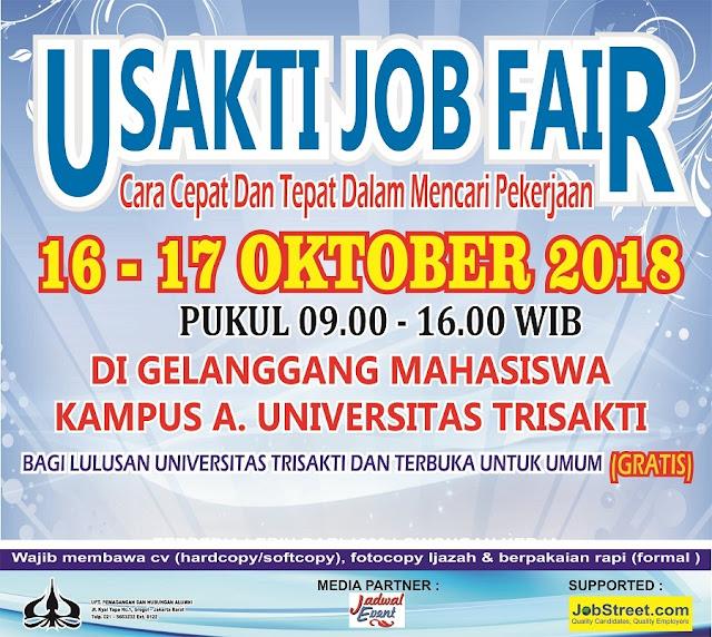 Job Fair 2018 Gratis di Universitas Trisakti (Jakarta)
