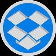 dropbox button outline