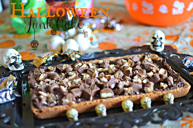 Halloween Junk Cake #Recipe #SpookyCelebration #Shop #Cbias