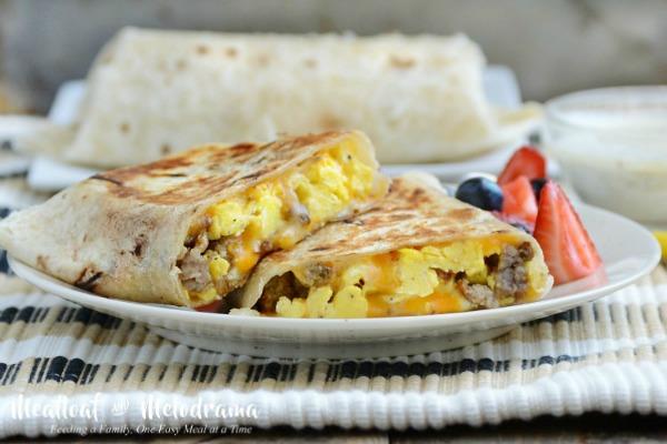 Crispy Sausage Egg Burritos from Meatloaf and Melodrama