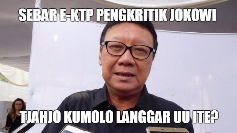 Mendagri Tjahjo Kumolo sebar e-KTP pengkritik Jokowi