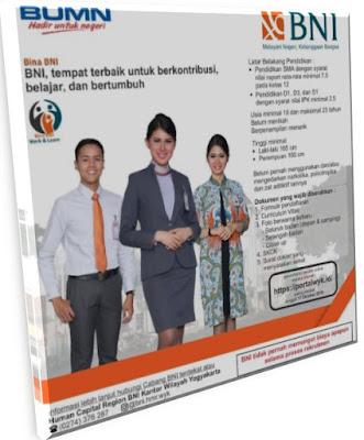 Lowongan Kerja BNI untuk SMA Oktober Yogyakarta