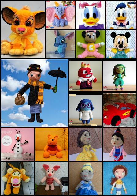 40 personajes Disney con patrón gratis en castellano, versión ...