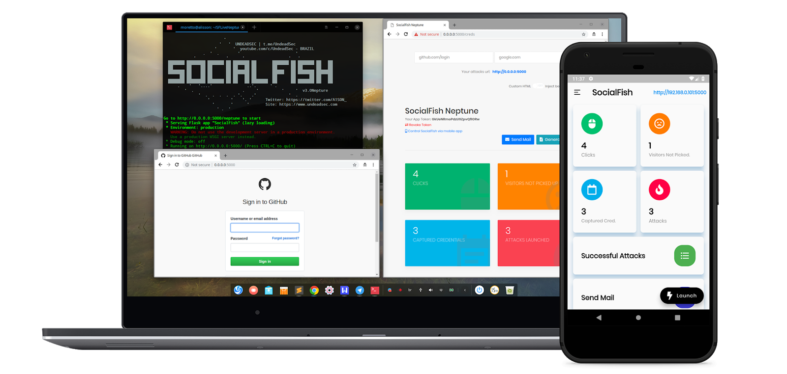 SocialFish v2 - Educational Phishing Tool & Information Collector