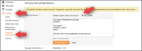 Tips Setting Robots.txt yang Aman di Blogger