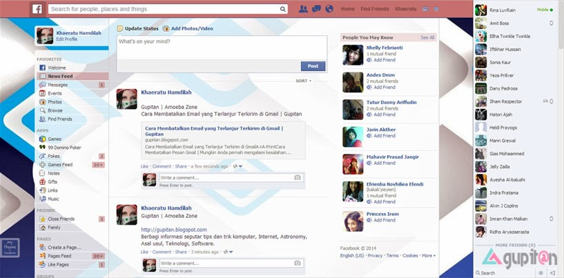 Cara Mengubah Warna dan Background Facebook