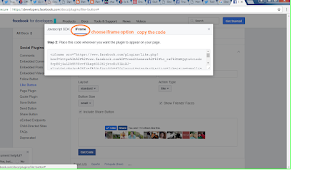 create Facebook like button