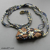 freeform pendant beadwork beading