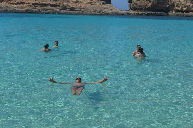 Boiando na Blue Lagoon