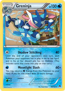 Greninja BREAKpoint Pokemon Card