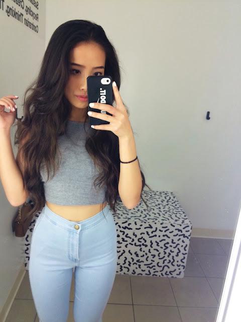 Topless teen selfie