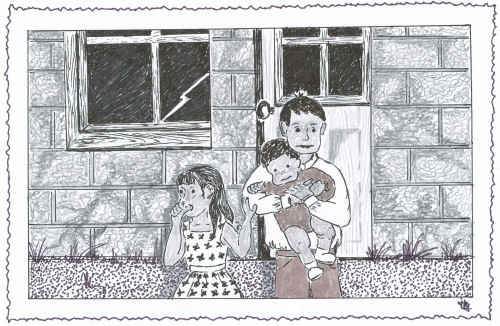 drawing of children from the Bigg Boss