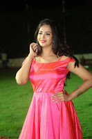 Actress Pujita Ponnada in beautiful red dress at Darshakudu music launch ~ Celebrities Galleries 036.JPG