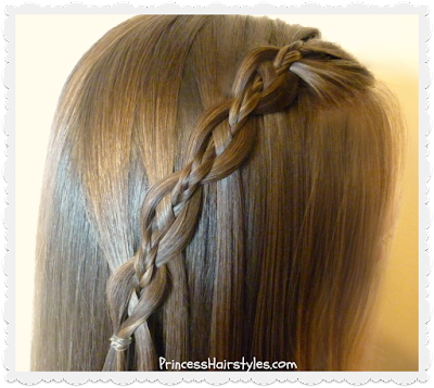 Waterfall chain braid tutorial, with micro braid accent