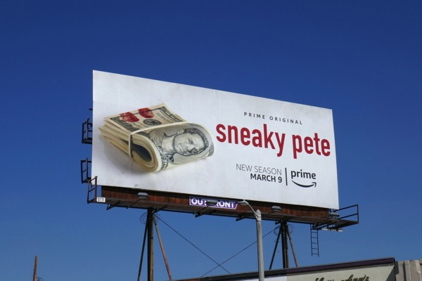 Sneaky Pete season 2 Amazon billboard
