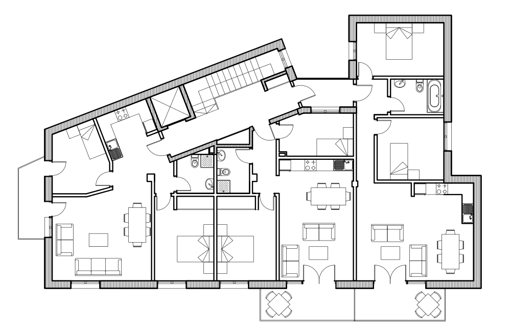 Tic i e s las sabinas 1 bach autocad plano vivienda escalar for Casa cad