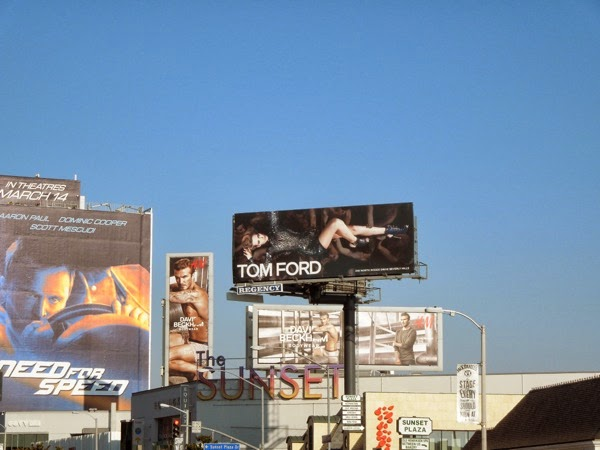 Tom Ford Spring 2014 women's fashion billboard