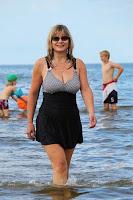 swinning suit, swimming dress, big breasts - uimapuku, uimahame