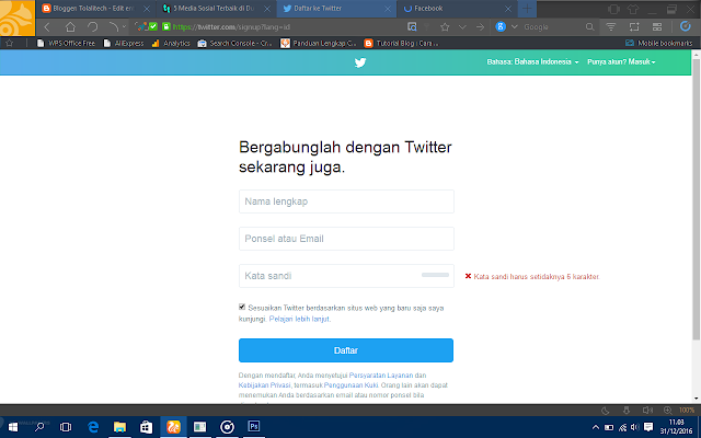 twitter sign up
