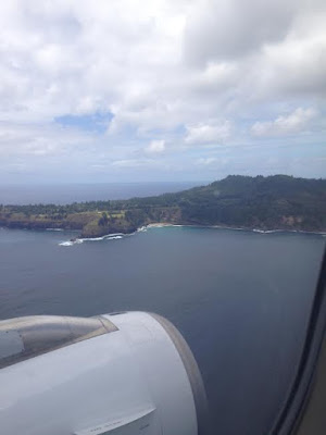 Glimpses of Norfolk Island from the Plane