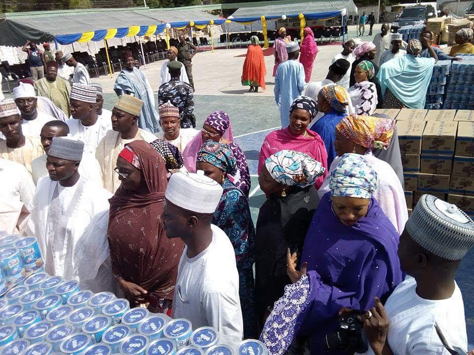 Aisha Buhari donates relief materials to 1,500 Borno State households