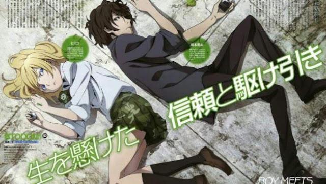 Btooom! - Daftar Rekomendasi Anime Action Romance Terbaik