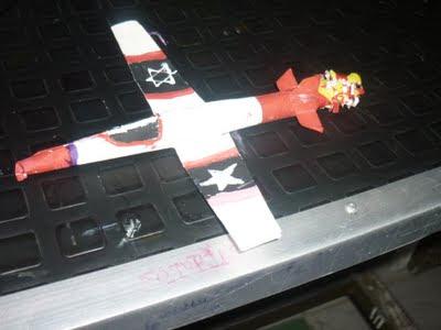 Maqueta de avión modelo aerodinámico