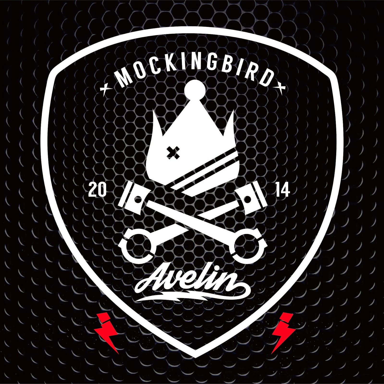 logo distro mockingbird avelin clothing industry