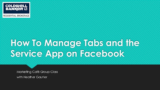 How To Manage Tabs and the Service Tab App on Facebook