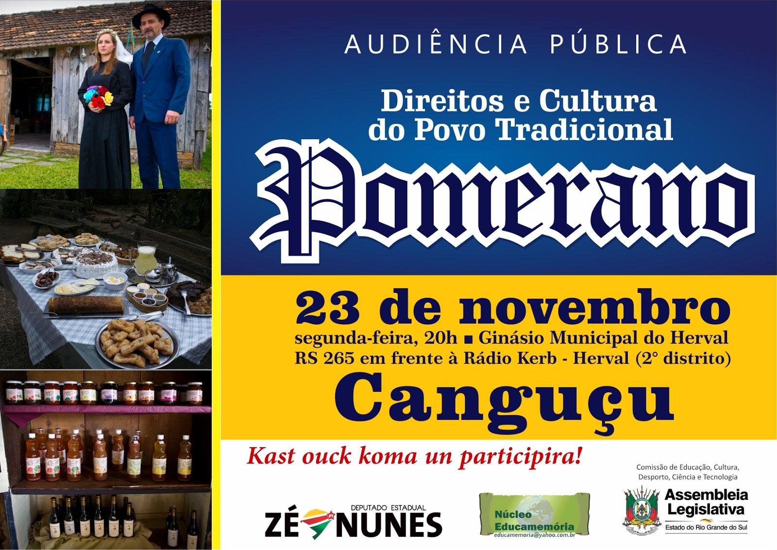 Canguçu e Camaquã discutirão os direitos dos povos pomeranos