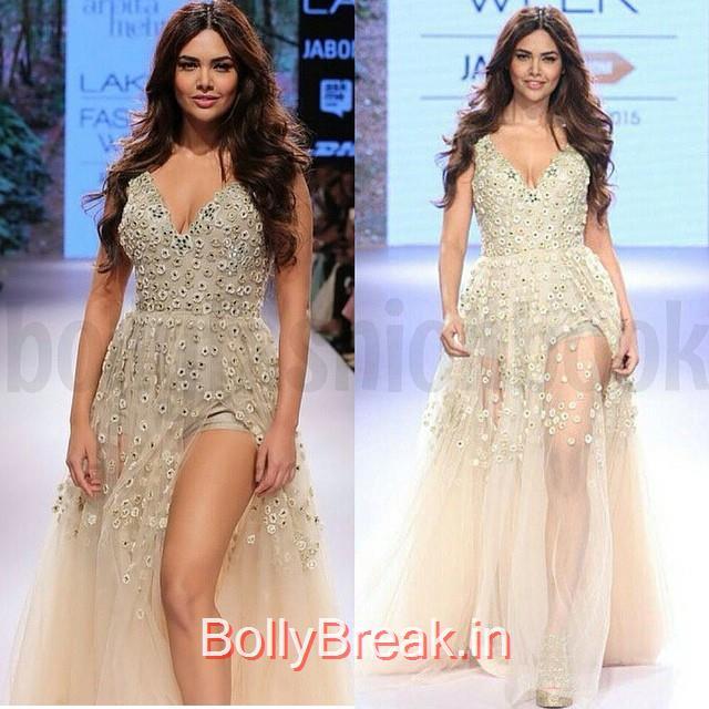 esha gupta ,  outfit - @arpita__mehta at lfw , summer resort 2015  bollywood , diva , fashion ,, Esha Gupta in Arpita Mehta Dress - Lakme Fashion Week 2015