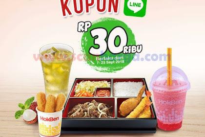 Harga Promo Hokben Terbaru 07 - 23 September 2018 Spesial Kupon Line
