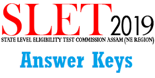 SLET Answer Keys March 2019