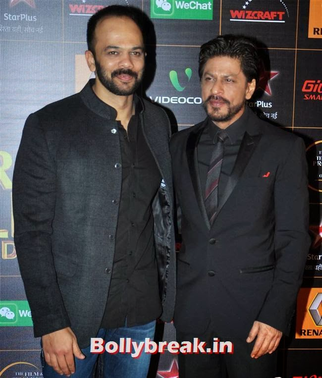 Rohit Shetty and Shah Rukh Khan, Star Guild Awards 2014 Pics