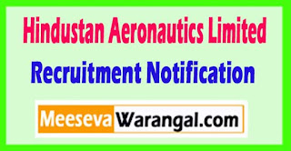 HAL (Hindustan Aeronautics Limited) Recruitment Notification 2017